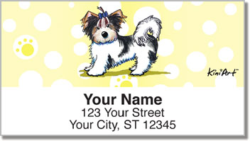 Yorkie KiniArt Series 3 Address Labels