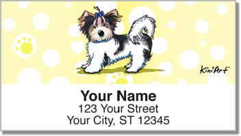 Yorkie KiniArt Series 3 Address Labels