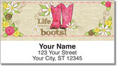 Cowgirl Happy Address Labels