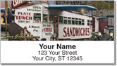 Diner Address Labels