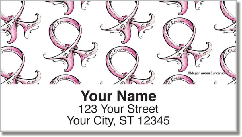 MADArt Pink Ribbon Address Labels