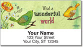 Zipkin Mixed Media Address Labels
