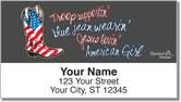 All American Girl Address Labels