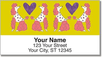 Primped Poodles Address Labels