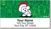 Christmas Westie Address Labels