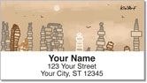 CityScapes Address Labels by Kim Niles at KiniArt