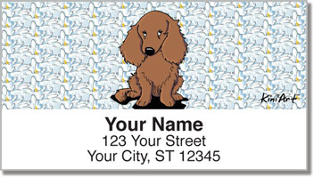 Longhaired Dachshund Address Labels