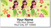 Hula Girl Address Labels