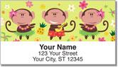 Hula Monkey Address Labels