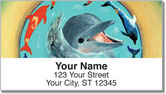 Swimming Dolphin Address Labels
