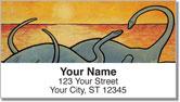 Pacific Dinosaur Address Labels