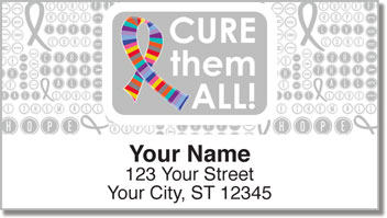Cancer - Cure Them All Address Labels