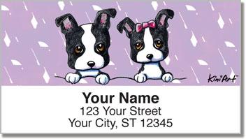 KiniArt Boston Terrier Address Labels