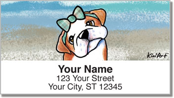 Bulldog KiniArt Series Address Labels