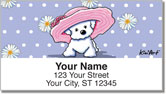 Bichon Frise Girls Address Labels
