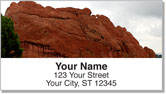 Colorado Red Rocks Address Labels