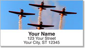 Airplane Aerobatics Address Labels