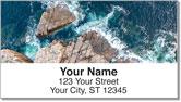 Rocky Coastline Address Labels