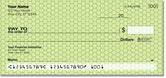 Green Honeycomb Checks