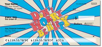 Groovy Checks VW hippie bus Volkswagen van