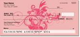 Floral Scroll Checks