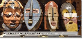 African Tribal Masks Checks