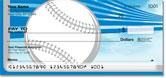 Silver & Blue Baseball Fan Checks