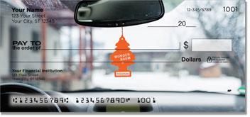 Car Mirror Decor Checks