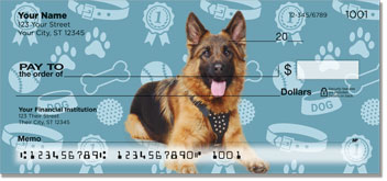 German Shepherds w Alternating Backgrounds Checks