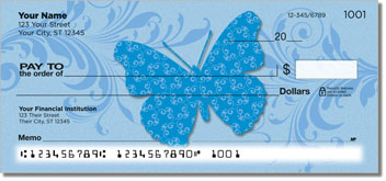 Butterfly Print Checks