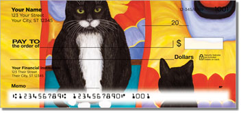 Contemplating Cats Checks