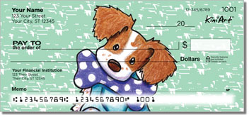 Brittany Spaniel KiniArt Series Checks