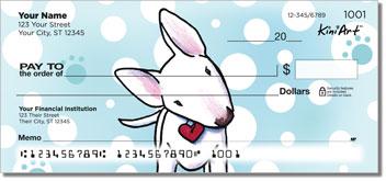 Bull Terrier KiniArt Series Checks