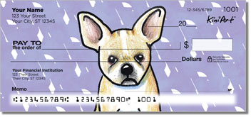 Cartoon French Bulldogs Checks