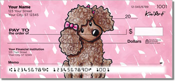 Cartoon Poodle KiniArt Series Checks