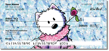 Westie Floral Personal Checks