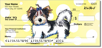 Yorkie KiniArt Series 3 Personal Checks