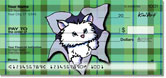 Cat Series 3 Checks by Kim Niles of KiniArt