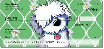 Cartoon English Sheepdog Checks