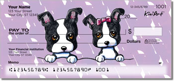 Boston Terrier Cartoon Checks