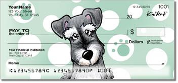 Cute Cartoon Schnauzer Checks