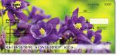 Purple Flower Checks