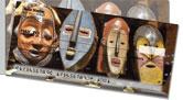African Tribal Mask Side Tear Checks