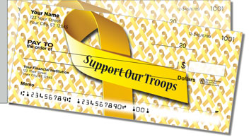 Support Our Troops Side Tear Checks
