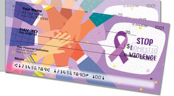 Domestic Violence Awareness Side Tear Checks