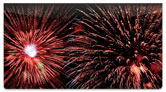 4th of July Fireworks Checkbook Cover
