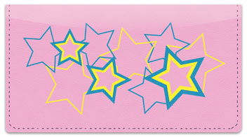 Multi-Colored Stars Checkbook Cover