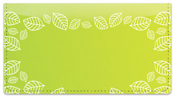 Yellow Leaf Border Checkbook Cover