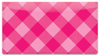 Pink Plaid Checkbook Cover