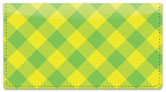 Yellow Plaid Checkbook Cover
